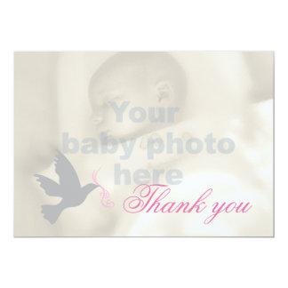 Cartões de agradecimentos cor-de-rosa obscuros da convite 12.7 x 17.78cm