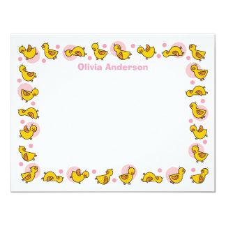 Cartões de agradecimentos cor-de-rosa parvos do convite 10.79 x 13.97cm