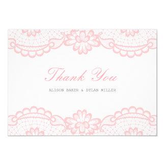 Cartões de agradecimentos cor-de-rosa românticos
