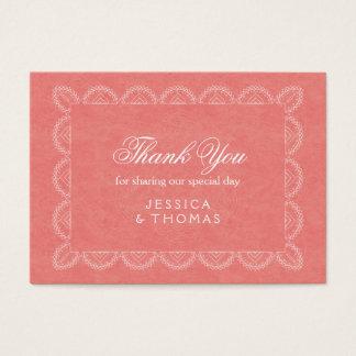 Cartões de agradecimentos corais chiques da