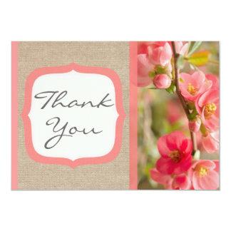 Cartões de agradecimentos corais elegantes de convite 12.7 x 17.78cm