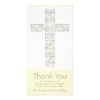 Cartões de agradecimentos cristãos da simpatia de cartão com foto