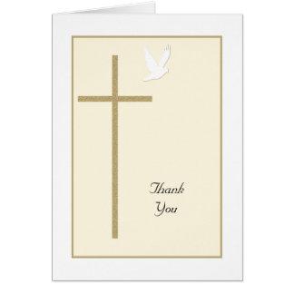 Cartões de agradecimentos cristãos religiosos tran
