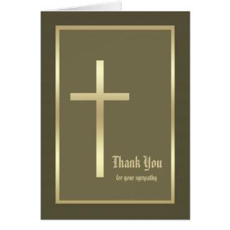 Cartões de agradecimentos cristãos vazios da simpa