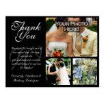 Cartões de agradecimentos customizáveis do casamen cartoes postais
