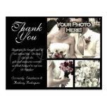 Cartões de agradecimentos customizáveis do casamen cartao postal
