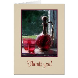 Cartões de agradecimentos customizáveis, vidro do