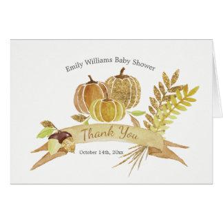 Cartões de agradecimentos da abóbora do brilho da