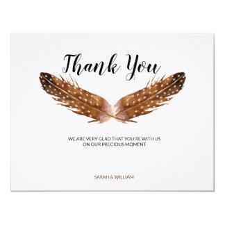 Cartões de agradecimentos da aguarela da pena