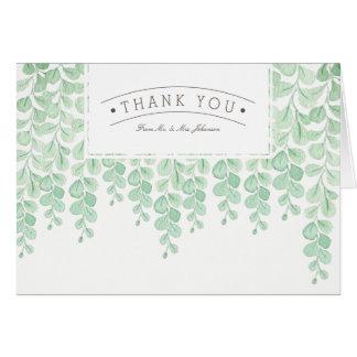 Cartões de agradecimentos da aguarela | da videira