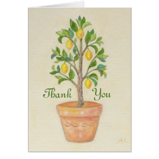 Cartões de agradecimentos da árvore de limão