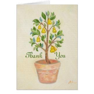Cartões de agradecimentos da árvore de pera