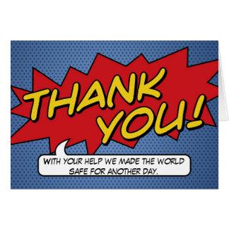 Cartões de agradecimentos da banda desenhada