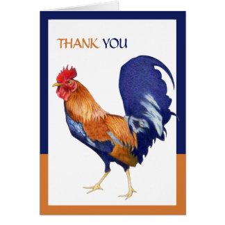 Cartões de agradecimentos da beira do galo
