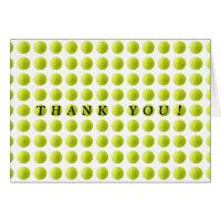 Cartões de agradecimentos da bola de tênis