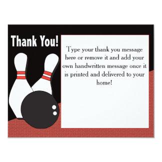 Cartões de agradecimentos da boliche para todos!