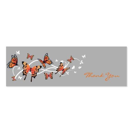 Cartões de agradecimentos da borboleta modelos cartoes de visitas