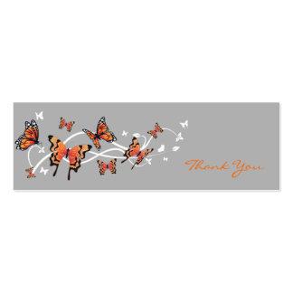 Cartões de agradecimentos da borboleta cartão de visita skinny