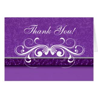 Cartões de agradecimentos da borboleta do damasco