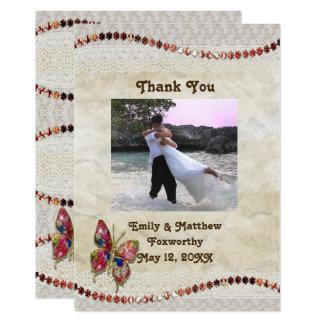 Cartões de agradecimentos da borboleta Sparkly, do