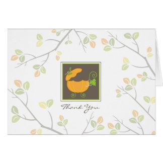 Cartões de agradecimentos da carruagem de bebê da