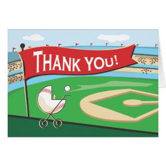 Cartões de agradecimentos da carruagem de bebê do