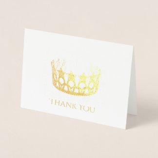 Cartões de agradecimentos da coroa da estrela da