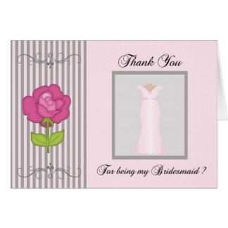 Cartões de agradecimentos da dama de honra