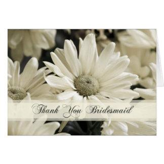 Cartões de agradecimentos da dama de honra das