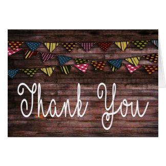 Cartões de agradecimentos da escrita da mão do