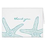 Cartões de agradecimentos da estrela do mar de tur