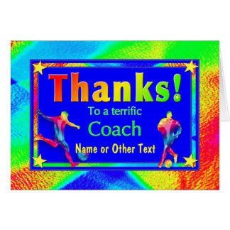 Cartões de agradecimentos da estrela do treinador