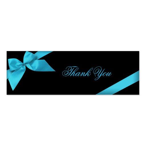 Cartões de agradecimentos da fita de turquesa cartao de visita