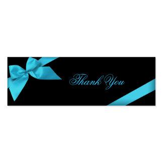 Cartões de agradecimentos da fita de turquesa cartão de visita skinny