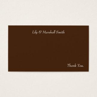 Cartões de agradecimentos da flor da hortelã