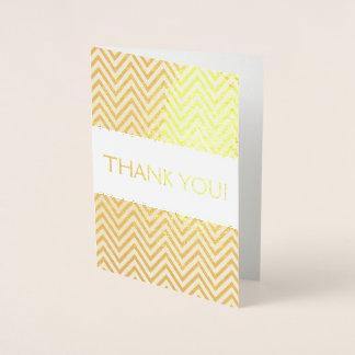 Cartões de agradecimentos da folha de ouro com