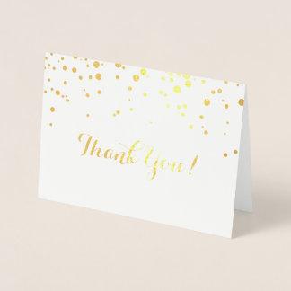 Cartões de agradecimentos da folha dos confetes