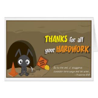 Cartões de agradecimentos da formiga