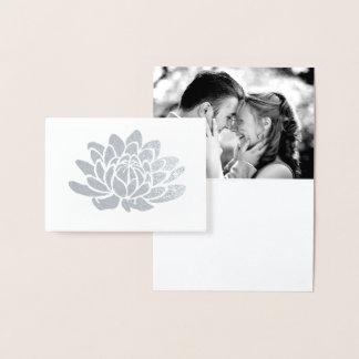 Cartões de agradecimentos da foto da flor de Lotus