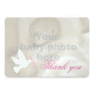 Cartões de agradecimentos da foto do baptismo das
