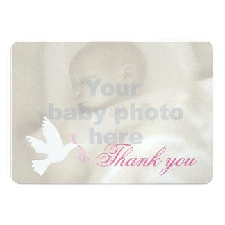 Cartões de agradecimentos da foto do baptismo das convite 12.7 x 17.78cm