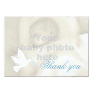 Cartões de agradecimentos da foto do baptismo dos convite 12.7 x 17.78cm