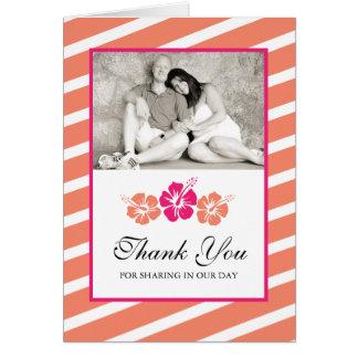 Cartões de agradecimentos da foto do casamento com