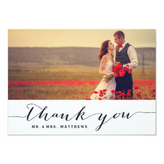 Cartões de agradecimentos da foto do casamento da convite 12.7 x 17.78cm
