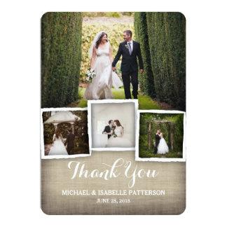 Cartões de agradecimentos da foto do casamento de convite 12.7 x 17.78cm