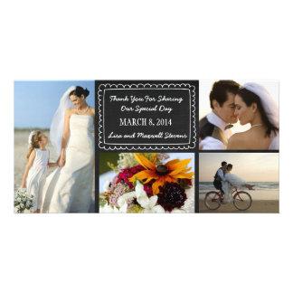 Cartões de agradecimentos da foto do casamento do  cartão com foto