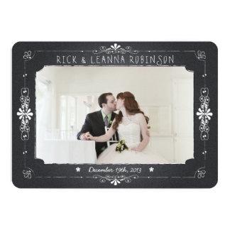 Cartões de agradecimentos da foto do casamento do convite 12.7 x 17.78cm