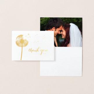 Cartões de agradecimentos da foto do dente-de-leão
