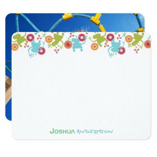 Cartões de agradecimentos da foto do menino dos convite 10.79 x 13.97cm
