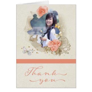 Cartões de agradecimentos da graduação da foto